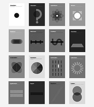 Collage der Philographics von Genis Carreras