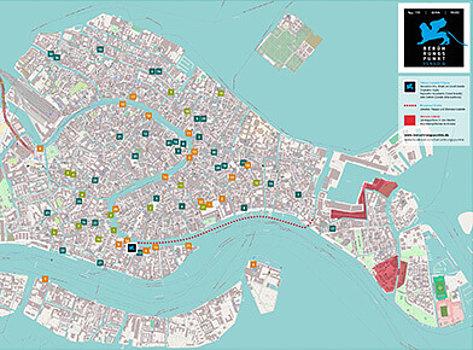 Venedig Karte.Stadtplan Beruhrungspunkte